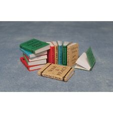 Dolls House Miniatures 1/12th Scale Pack 12 Books Dolls House Accessory D2349