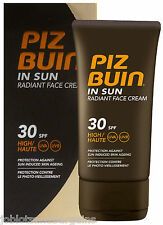 Piz Buin In Sun Radiant Face Cream SPF 30 HIGH UVA UVB 40ml Facial Sun Cream