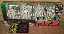 Autographed TMNT Box Set SDCC Exclusive 2008 Eastman Laird B&W Figures Neca nycc