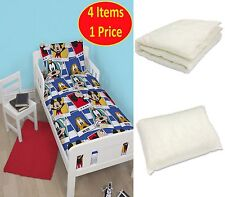 DISNEY MICKEY MOUSE POLAROID JUNIOR 4 IN 1 BEDDING BUNDLE FOR COT TODDLER BED