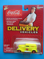 """JOHNNY LIGHTNING """"COCA COLA"""" DELIVERY VEHICLES 1940 FORD SEDAN 1/64 SCALE"""