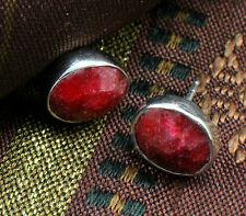 Wholesale price, 925 Sterling Silver Ruby Quartz Stud Earrings,Birthstones