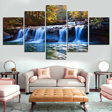 5 PCS/SET UNFRAMED WATERFALL WALL ART PICTURES FOR LIVING ROOM HOME DECOR RETRO