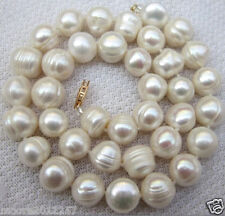 CLASSIC HUGE 10-12mm SOUTH SEA BAROQUE PEARL NECKLACE 20 INCHES