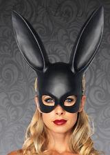 Womens Gothic Black Rabbit Eyemask