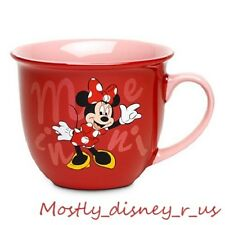 NEW Disney Store Exclusive Minnie Mouse Ceramic Coffee Mug Cup Tea Red Pink