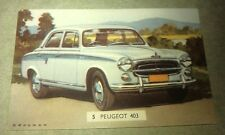 1960 PEUGEOT 403  Australian Sanitarium Weetbix Trade Card