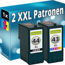 Set 2 TINTE PATRONEN für LEXMARK 44XL+43XL X4850 X4875 X4950 X4975 X4975ve X6570