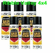 x 6 HOLTS Bradex Easy Start 300ml Cold Start Aerosol Winter Petrol Diesel 2/4