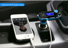Dual USB Car Cigarette Lighter Charger AUX FM TF MP3 Player For iPhone Samsung