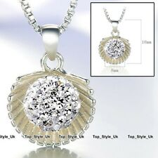 Disco Diamond Love Ball Necklace Silver 925 Xmas Gifts for Her Women Mum Wife U4