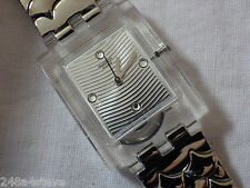 Swiss Made Ladies - Girls SWATCH `Square` Stainless Steel Watch...NEW & BOXED