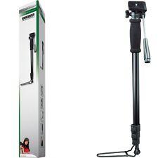 Einbeinstativ für Foto und Video Kameras , 60 - 178 cm , 4 Teilig , inkl. Tasche