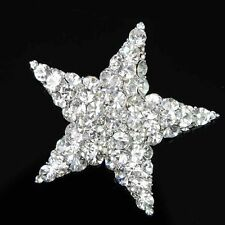 Wedding Bridal Jewelry Crystal Brooch Star Fashion Rhinestone Silver Plated New