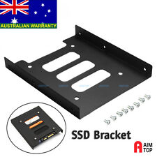 "SSD 2.5"" to 3.5"" HDD Hard Disk Drive Dock Adapter Bracket Mounting Kit Metal"