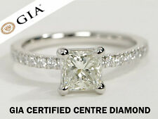 1.20 CT GIA CERTIFIED PRINCESS CUT VS2 CLARITY SOLITAIRE DIAMOND ENGAGEMENT RING