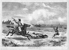 Beizjagd auf Gazellen in Persien, Iran, Falken, Original-Holzstich von ca.1870