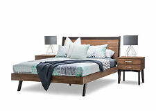New Selena Solid Acacia Timber Rubber Wood Rustic Queen Size Bed Frame Only