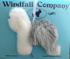 Old English Sheepdog Dog OES Soft Plush Canine Christmas Ornament # 5 by WC