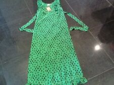 NWT Juicy Couture New & Gen. Ladies Size Small Green Silk Maxi Dress UK 8/10