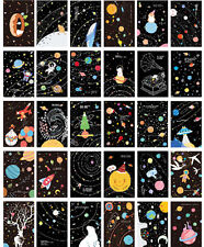 LOT 30PCS Glow in Dark Postcard Lonely Planet Star Sky Bulk Set #51