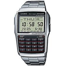 Casio Digitaluhr DBC-32D-1AES Armbanduhr Herren Silber Taschenrechner NEU & OVP