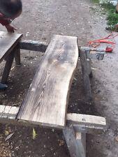 Baumscheibe, Waschtisch, Tischplatte, Eiche, gerade/Baumkante, geflammt, 150cm