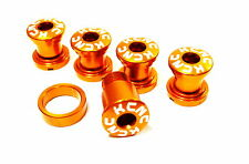 KCNC SPB009 Road Bike Crank Chainring Bolts Nuts for Campy Campagnolo use Gold