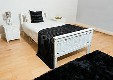 Single bed in white 3ft single bed wooden frame white new pine bed white