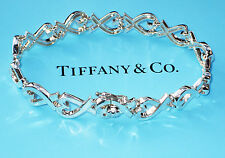 Tiffany & Co Paloma Picasso Sterlingsilber Liebendes Herz Kontinuierlich Armband