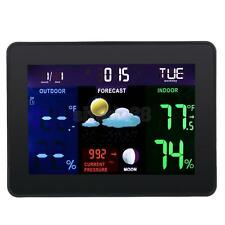 Digital LCD Weather Thermometer Home Clock Indoor/Outdoor Wireless Station