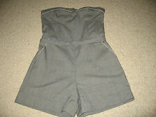 BNWT FAB G:21 GEORGE BLACK GREY CHECKED STRAPLESS SHORTS PLAYSUIT /JUMPSUIT SZ 8