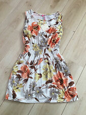 Ladies cream floral sleeveless tunic topside 10 New with tags Miso