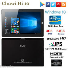 10.1Zoll IPS CHUWI Tablet PC Windows10/Android QuadCore WIFI Bluetooth 64GB HDMI