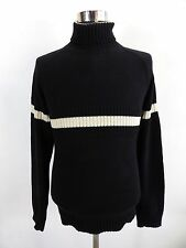 Men's Tommy Hilfiger Jumper Funnel Neck, Size M Medium, Black, Cotton #BL1075