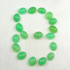 8x6mm Oval Cabochon Translucent Green Natural Australian Chrysoprase Gemstone