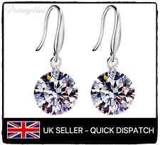 925 Sterling Silver Chandelier Dangle Drop Earrings CZ Cubic Zirconia Gem Gift