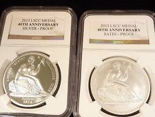 GOBRECHT SILVER DOLLAR RESTRIKE 2013 SEATED LIBERTY CLUB 40TH ANNIVERSARY NGC