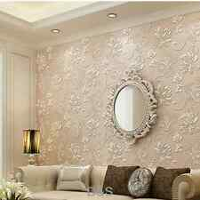 Pink 3D Non-woven WallPaper Roll for Living Room Bedroom Decoration TV Wall 10m