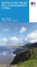 SOUTH and MID WALES Travel Map - Ordnance Survey - OS - NEW 2016