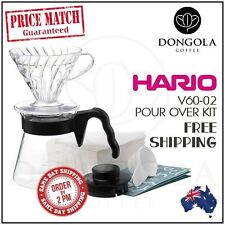 HARIO V60 02 Pour Over Kit Plastic Coffee Dripper, Range Server + Paper Filters