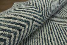 designer Teppich JWA 170x230 cm 100% Wolle Handarbeit blau weiß