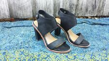Dolce Vita Black Leather Heel Sandals Sz 9
