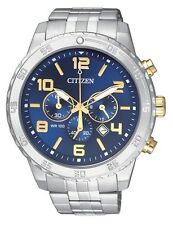 CITIZEN AN8134-52L two-tone Mens Watch Chronograph WR100m NEW RRP $325.00