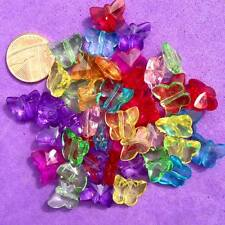 50 x Mixed Butterfly Beads, Key Rings, Craft, Jewellery making,Pony Bead, Spacer