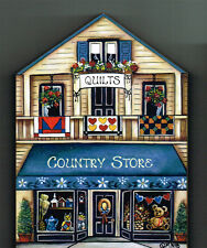 Brandywine Collectible Houses & Shops: COUNTRY STORE Quilts - Wood Shelf Sitter