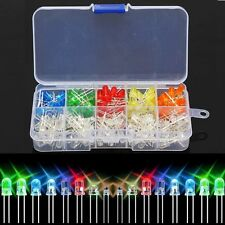 200Pcs 5mm Red Green Blue Yellow White Light Emitting LED Diode Assorted Kit