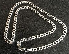 GIFTS FOR MEN 925 Sterling Silver Cuban Curb Link Chain Necklace 6mm w 605mm L