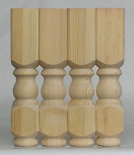 Set of 4 Solid Pine Refectory CoffeeTable Legs, 88*88*425mm  Ex 4""