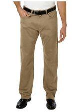 Kirkland Mens Straight Leg 5 Pocket Brushed Cotton Pants Khaki Size 38x30 NWOT